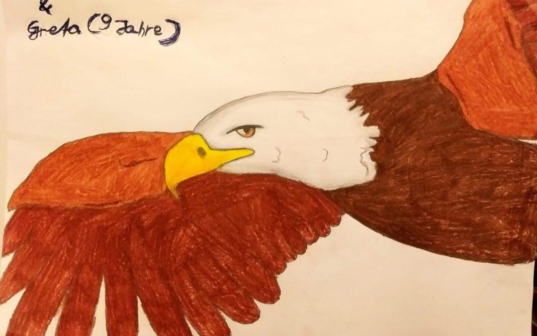 Kinder malen Adler!