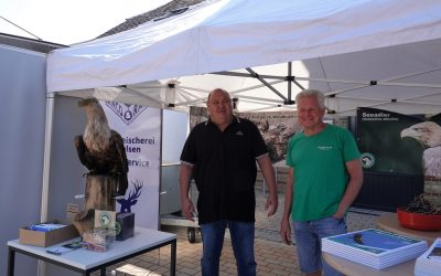 Seeadler-Infostand auf dem Wochenmarkt in Sörup
